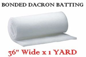 AK-Trading 36 Inch Wide Bonded Dacron Upholstery Grade Polyester Batting