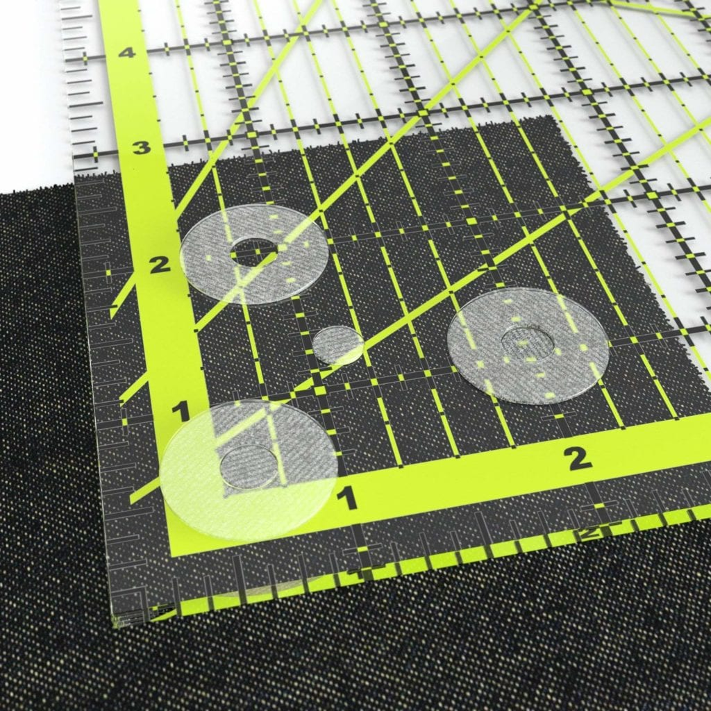 Aretza Quilters Ruler with Non-Slip Rings