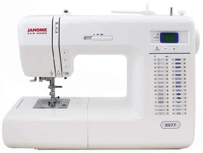 Janome 8077 Computerized Sewing Machine for Free Motion Quilting