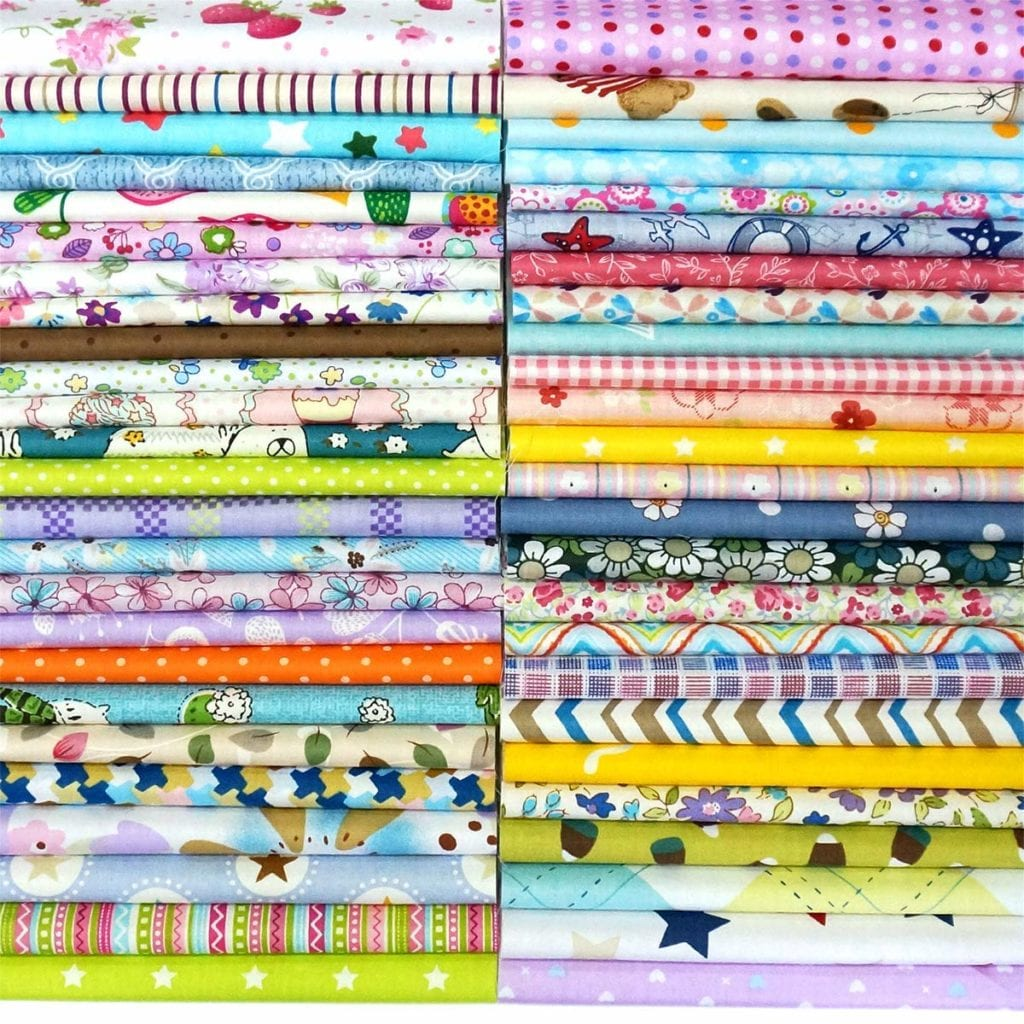 Misscrafts 50pcs 8 x 8 Top Cotton Craft Fabric Bundle