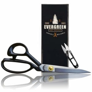 Sewing Scissors with Free Thread Snips - Professional All Purpose Shears Fabric Scissors Office...by Evergreen Art Supply