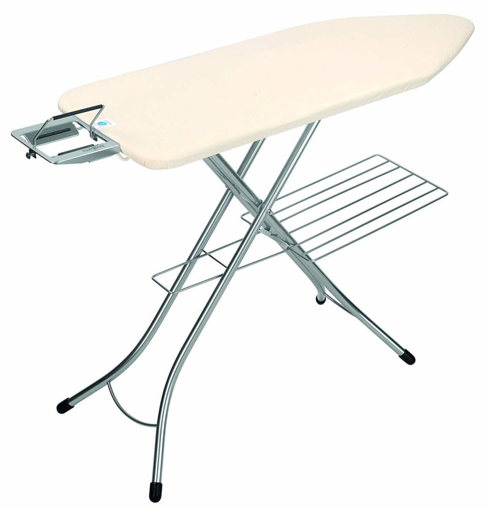 Brabantia Ironing Board with Steam Iron Rest and Linen Rack - Quilting Ironing Board