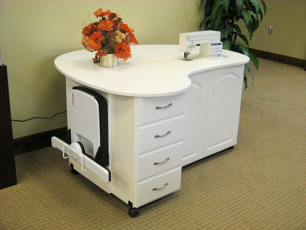 Fashion Sewing Cabinets Model 8300 Quilters Cloud 9 Premium 4 Drawer Cabinet in white - Quilting Cabinets