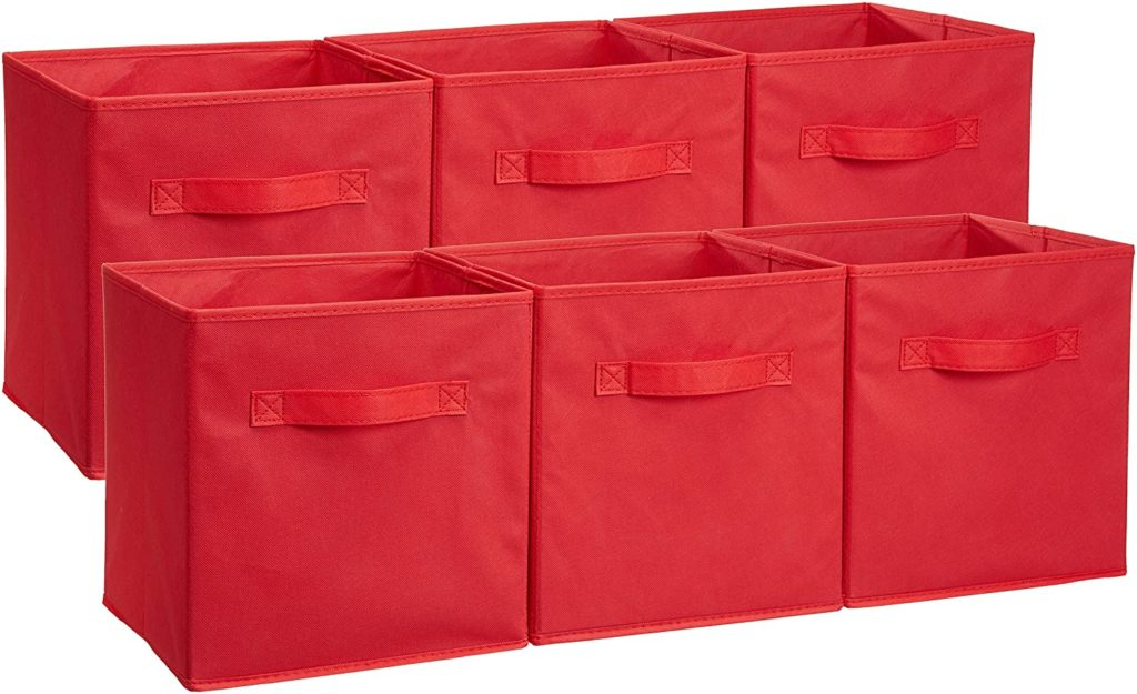 AmazonBasics Collapsible Fabric Storage Cubes