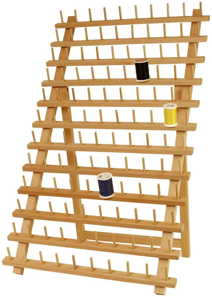 US Art Supply Premium Beechwood Thread Rack