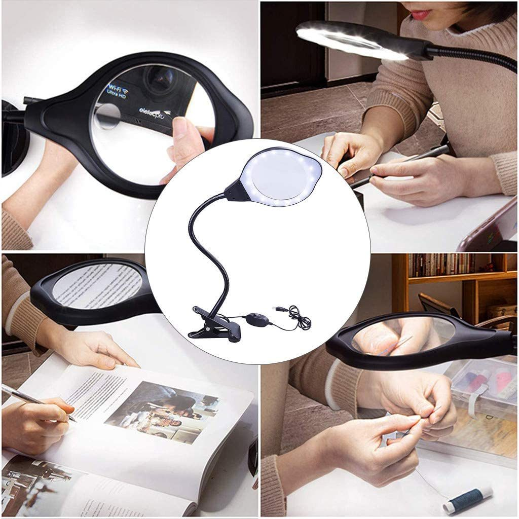 Wotryit Dimmable Magnifying Glass with Light