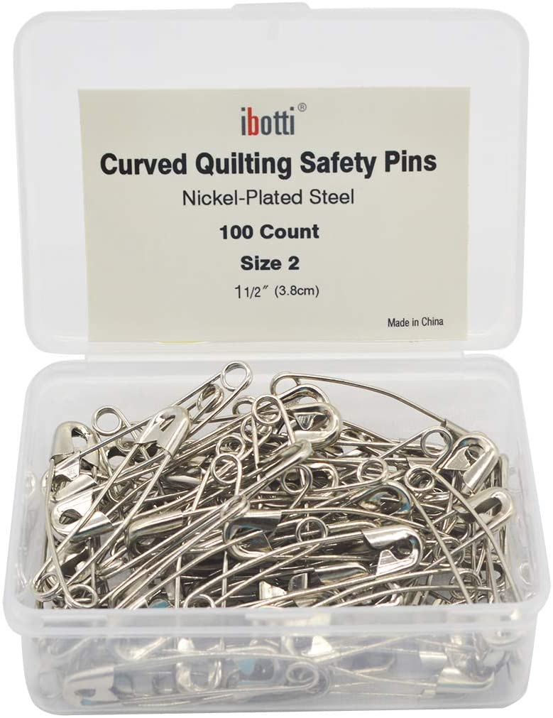 ibotti Curved Safety Pins for Quilting