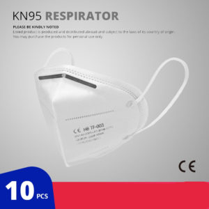 10 Pcs KN95 Face Masks Dust Respirator Breathable Mask Filter