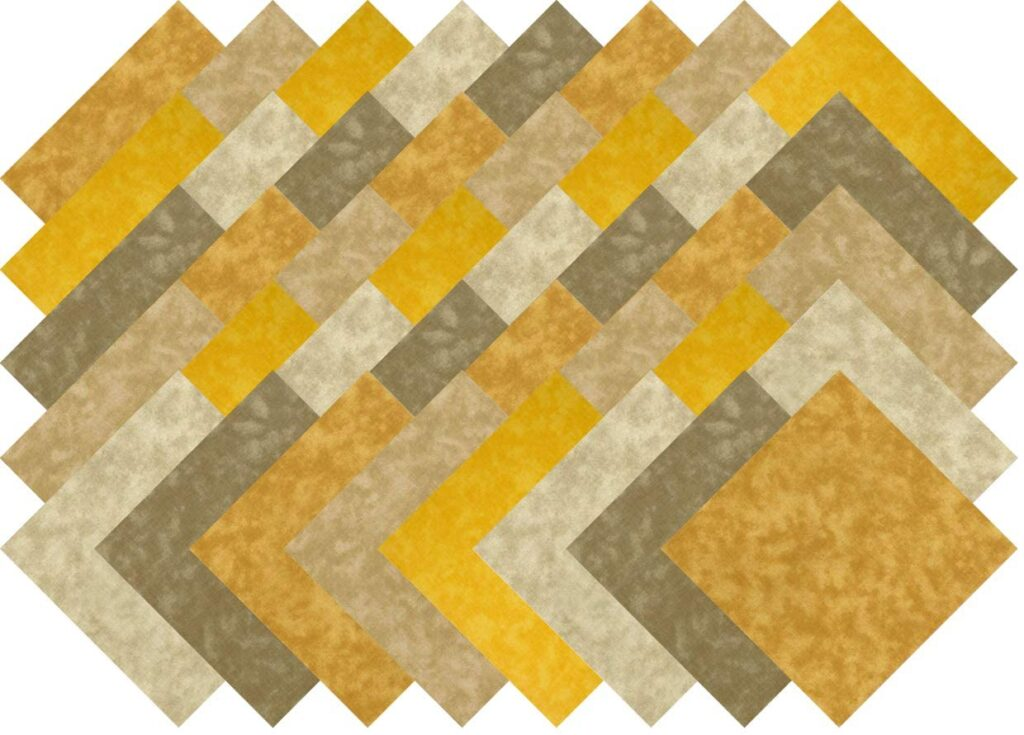 Best Pre-Cut Squares for Traveling Quilters- Beige Gold Blender Collection 40 Precut 5-inch Quilting Fabric Squares Charm Pack by Santee