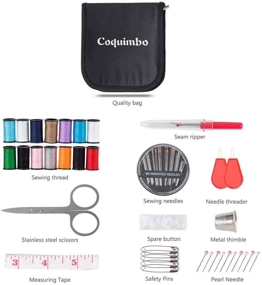 Coquimbo Sewing Kit for Traveler, Adults, Beginner, Emergency, DIY Sewing Supplies Organizer