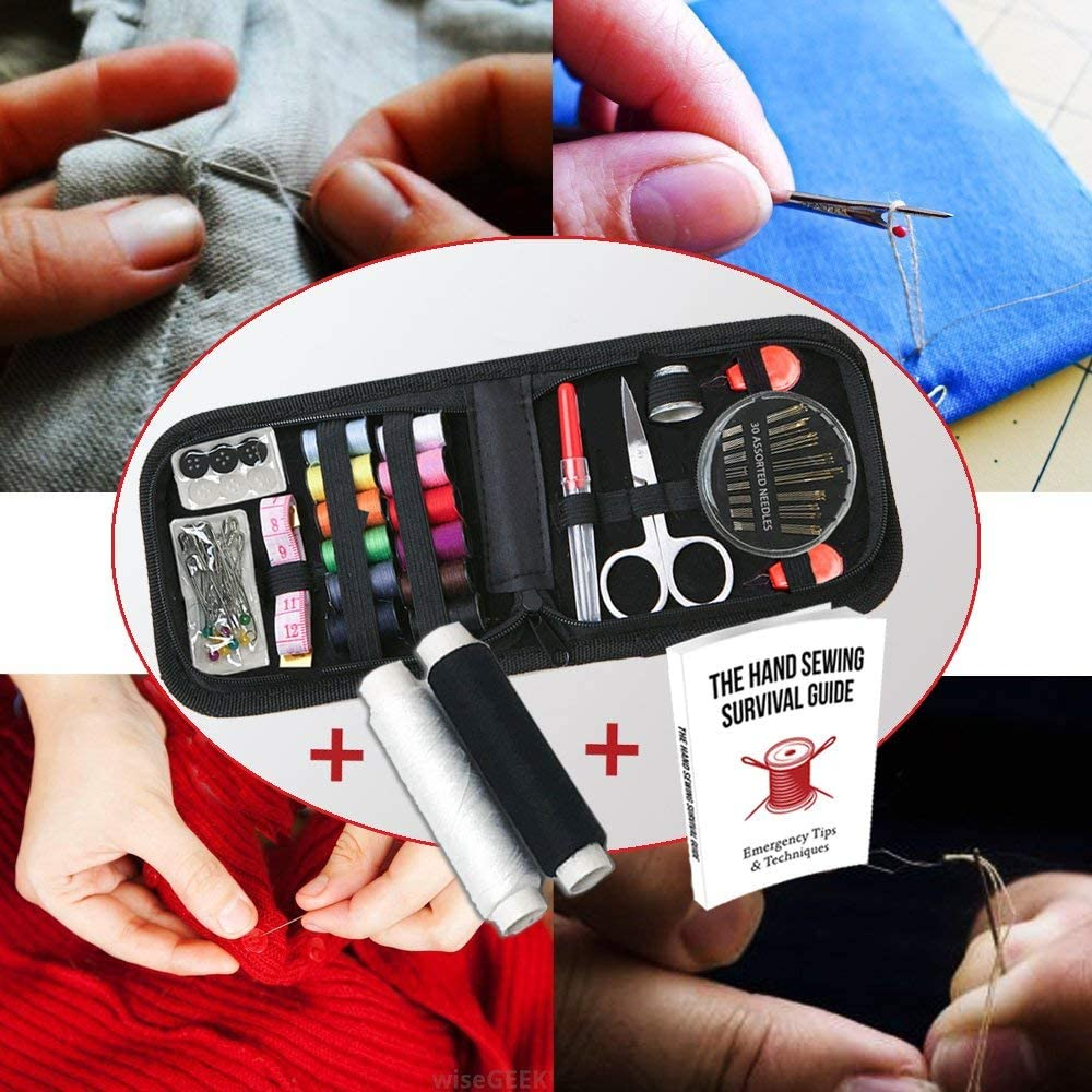 Craftlab Best Mini Sewing Kit with Sewing Survival Ebook, Emergency Accessories For Home, Travel, Emergency