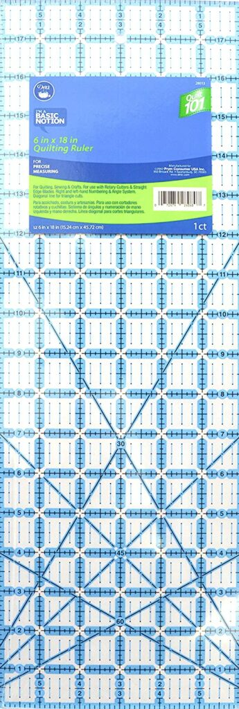 Dritz Quilt 101 28013 Ruler, 6 x 18-Inch