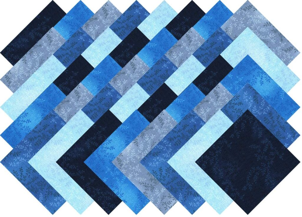 Santee Blue Vine Blender Collection - Best Pre-Cut Squares for Quilters