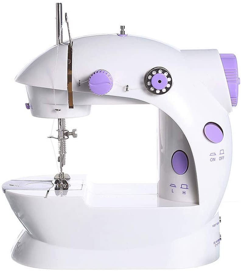 WAQIA Oh Mini Portable Sewing Machine for Household Travel & Beginner