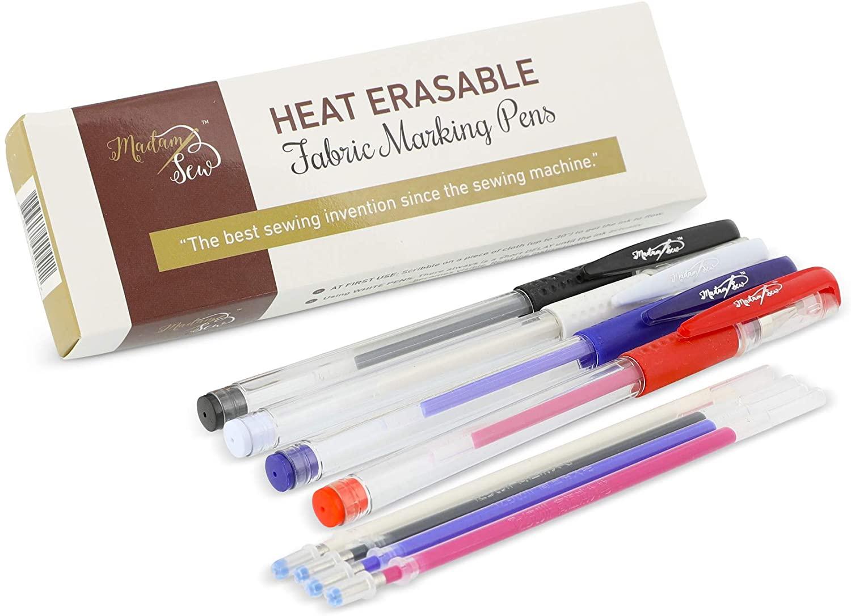 Madam Sew Heat Erasable Fabric Marking Pens