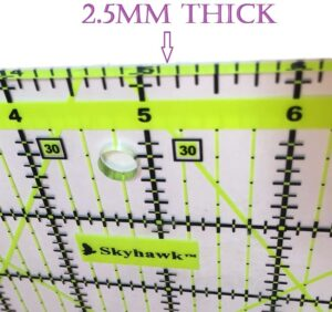Skyhawk Acrylic Quilting Rulers Combo Pack as a Gift for Beginner Quilters