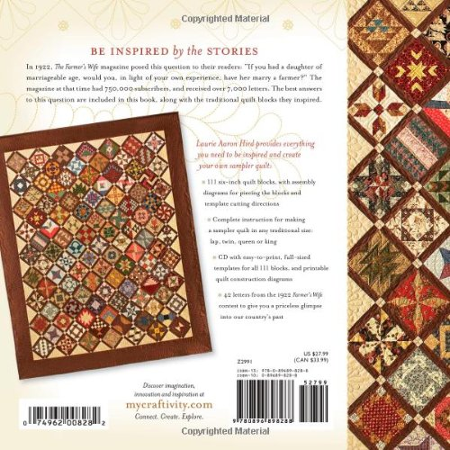 The Farmer's Wife Sampler Quilt by Laurie A. Hird as a Gift for Beginner Quilters