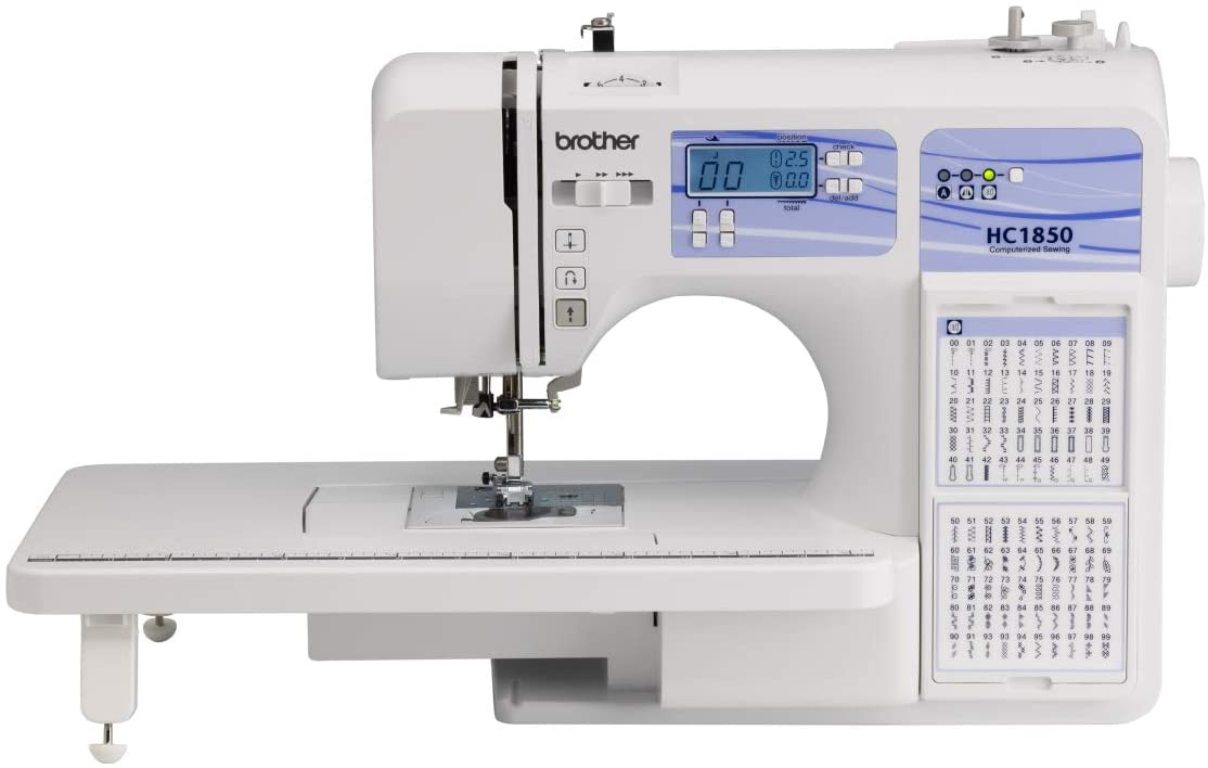 Brother HC1850 Sewing and Quilting Machine - Best Large Throat Sewing Machines for Quilting