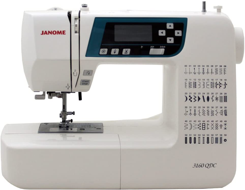 Janome 3160QDC Computerized Sewing Machine - Best Large Throat Sewing Machine for Quilting