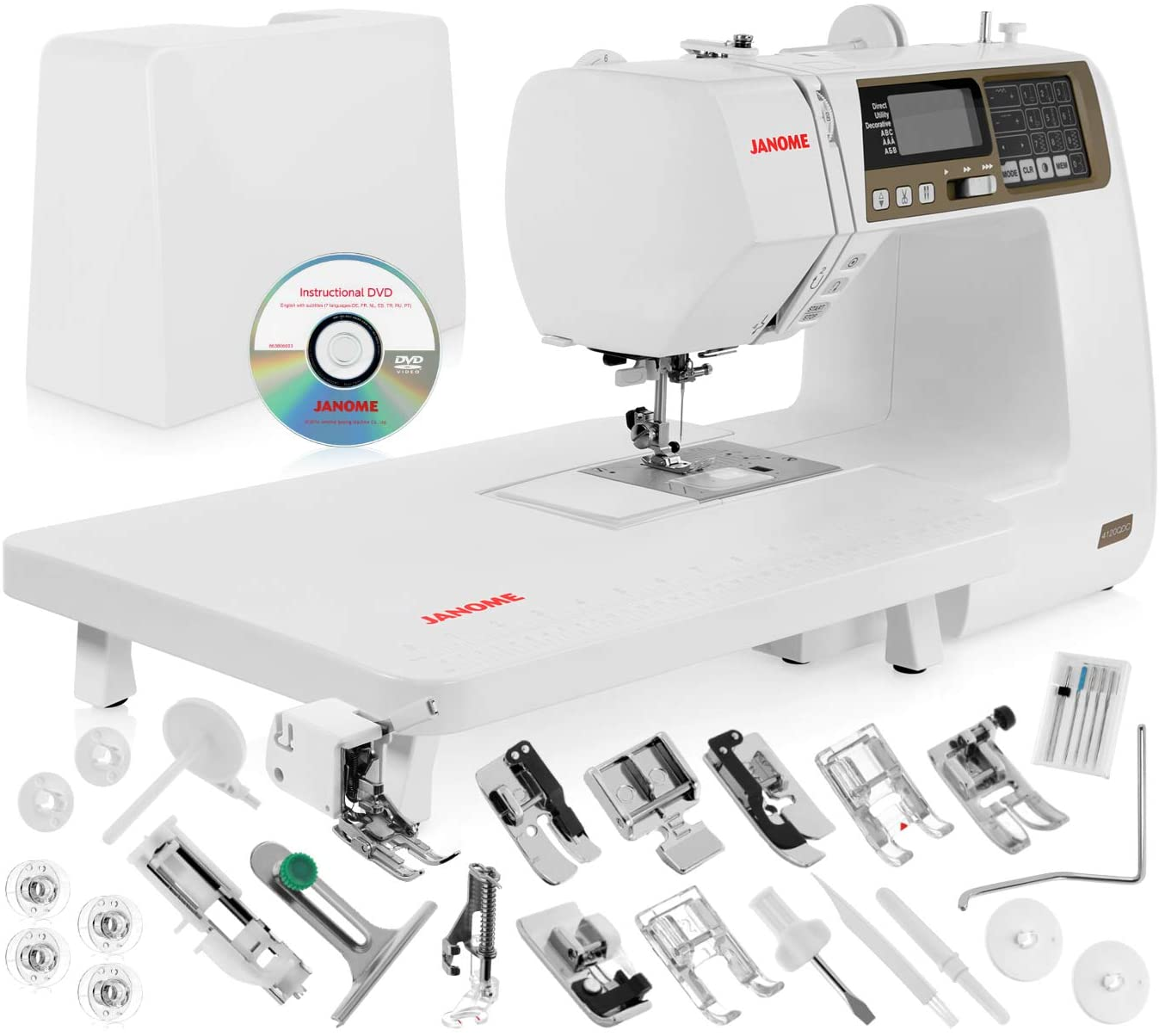 Janome 4120QDC Computerized Sewing Machine - Best Sewing Machine for Quilting and Embroidery